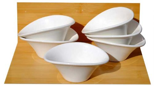 White Spirit Dishes X 6 white - GOTO